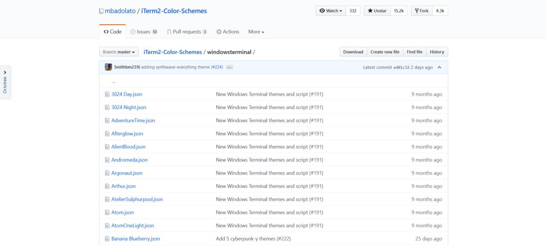 iTerm2 Color Scheme 中 Windows Terminal 色彩主题