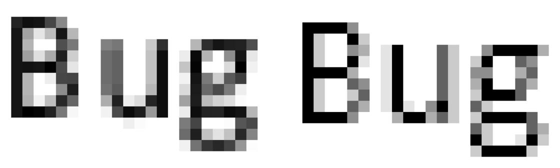 没有字体 hinting 渲染(macOS)→ 有字体 hinting 渲染(Windows)