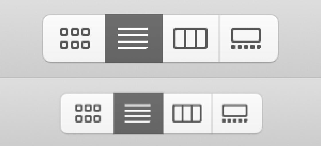 上:2 倍缩放;下:同样 2 倍缩放并按照 12/7 比例缩小